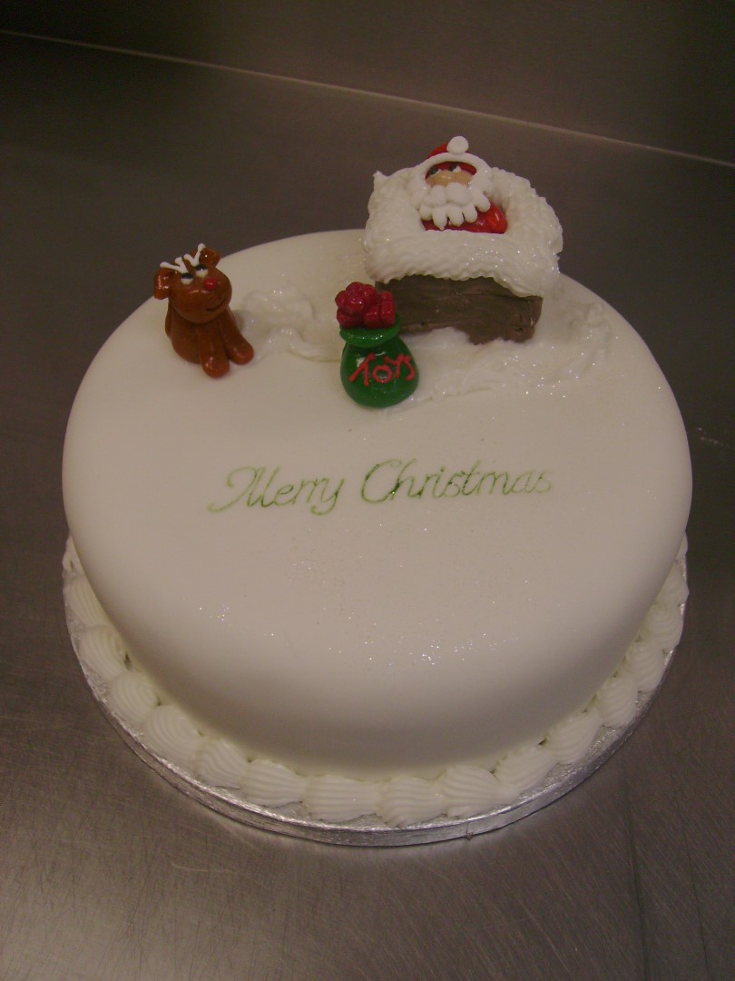 The fairy cake sligo Santa stuck in chimney cake
