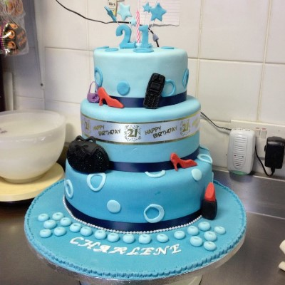 An example of a birthday cake from our birthday cake gallery.