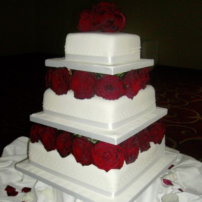 An example of a wedding cake from our wedding cake gallery.